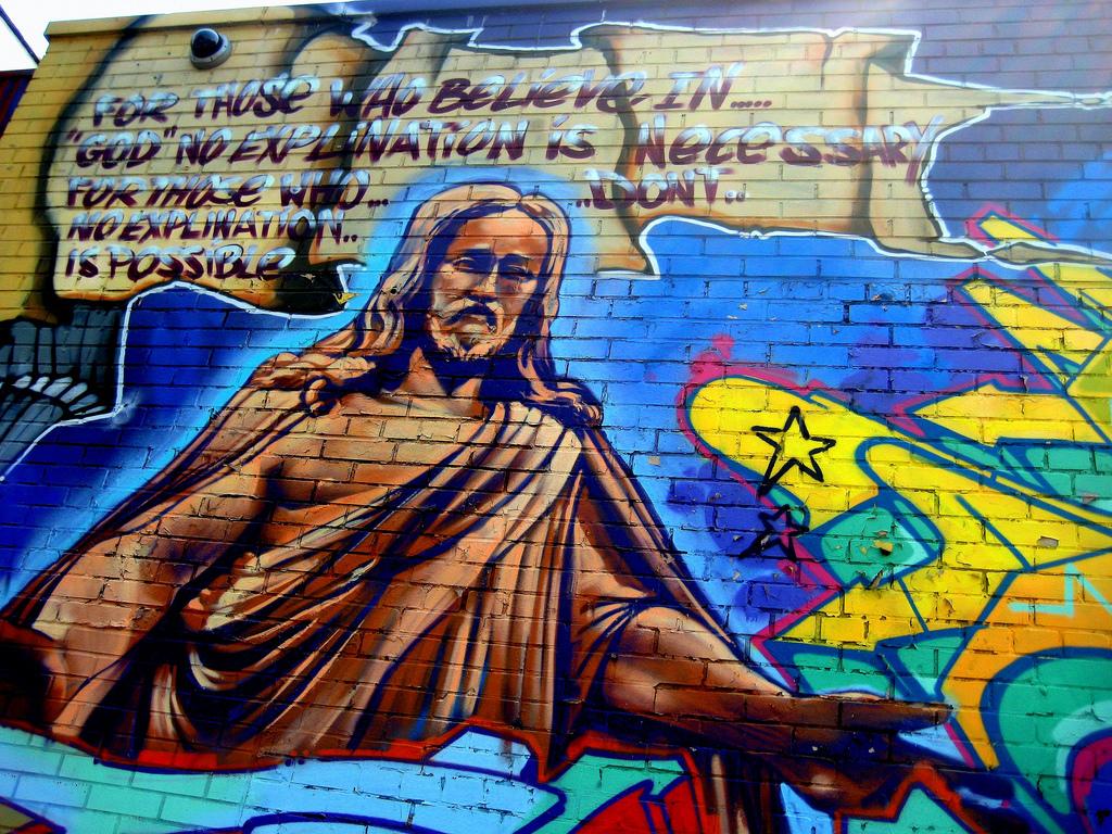 поклеим картинки граффити иисус вашему вниманию