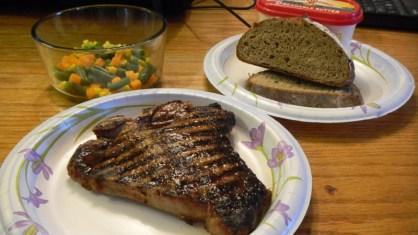 Steak on a Paper Plate