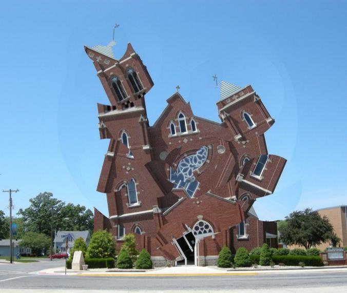 Deconstructed Corner Church