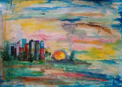 Abstract Modern Landscape