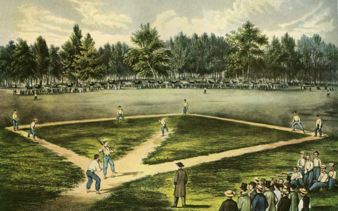 Baseball 1886 Currier and Ives